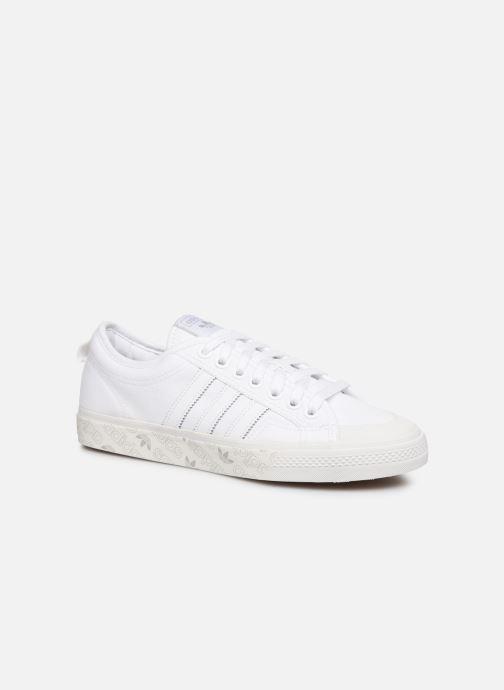 Baskets adidas originals NIZZA Blanc vue détail/paire
