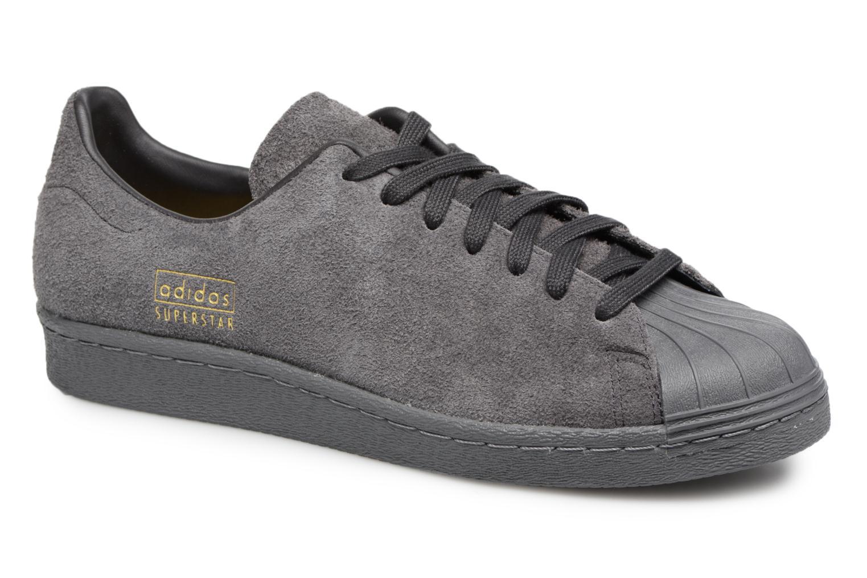 Baskets Adidas Originals SUPERSTAR 80s CLEAN Gris vue détail/paire