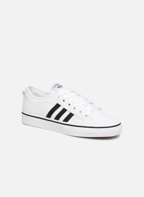 Baskets adidas originals NIZZA W Blanc vue détail/paire