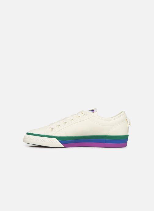 Sneakers adidas originals NIZZA W Wit voorkant