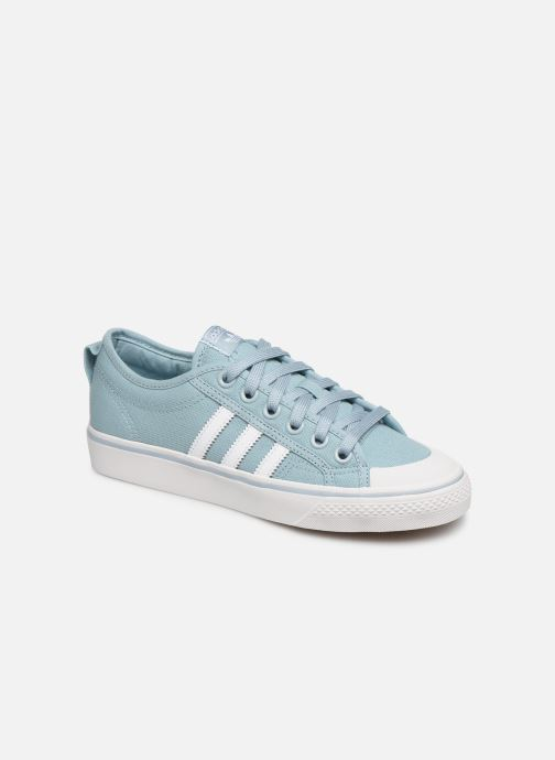 Baskets adidas originals NIZZA W Bleu vue détail/paire