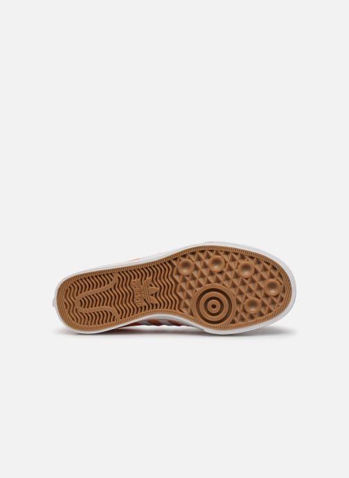 Baskets adidas originals NIZZA W Orange vue haut