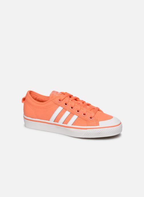 Baskets adidas originals NIZZA W Orange vue détail/paire