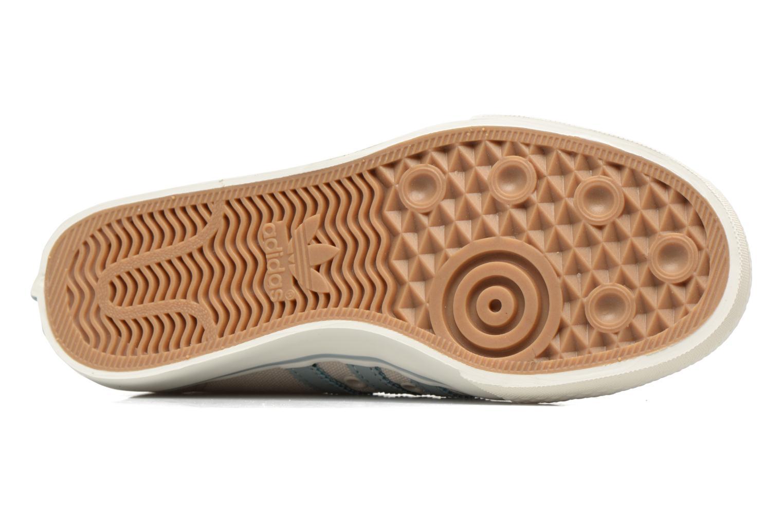 Baskets Adidas Originals NIZZA W Beige vue haut