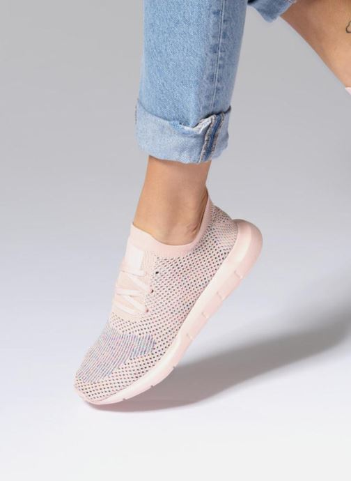 3422f2b656e8 Trainers adidas originals SWIFT RUN PK W Pink view from underneath   model  view