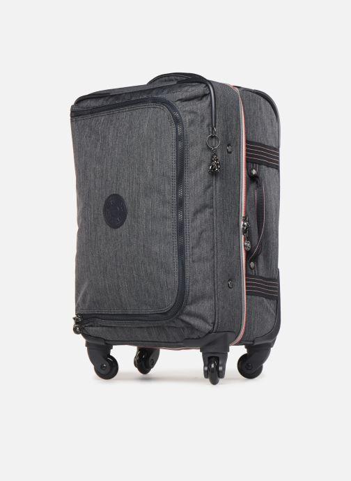 Reisegepäck Kipling CYRAH S grau schuhe getragen