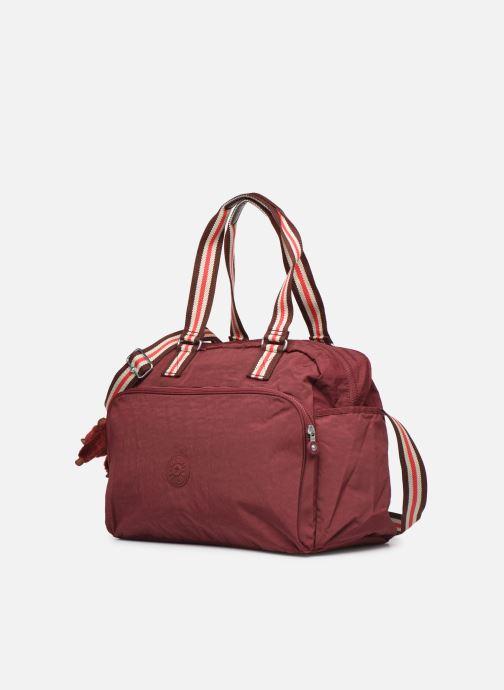 Reisegepäck kipling JULY BAG weinrot schuhe getragen