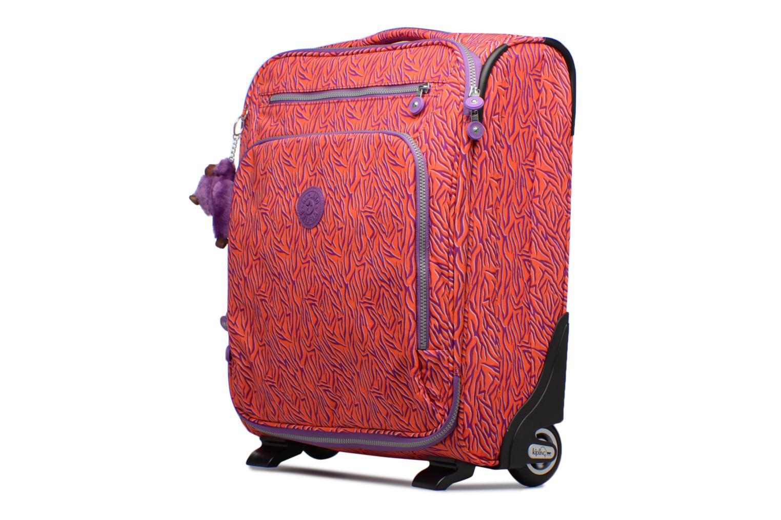 Bagages kipling YOURI 50 Rouge vue portées chaussures