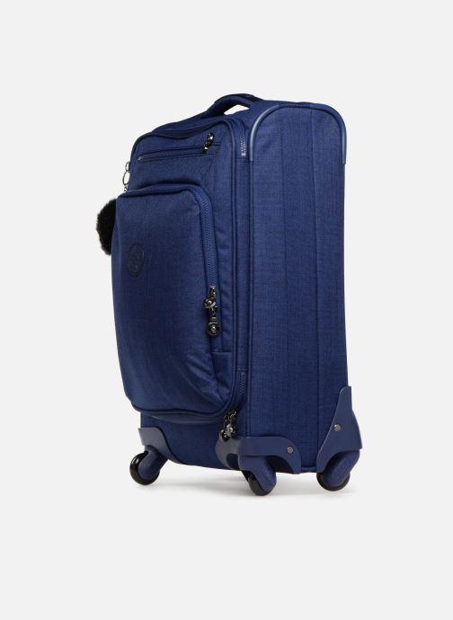 Reisegepäck Kipling YOURI SPIN 55 blau schuhe getragen