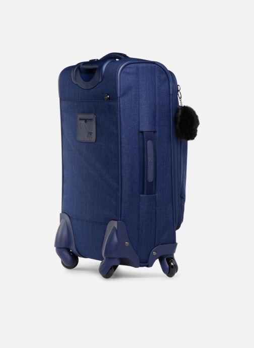 Reisegepäck Kipling YOURI SPIN 55 blau ansicht von rechts