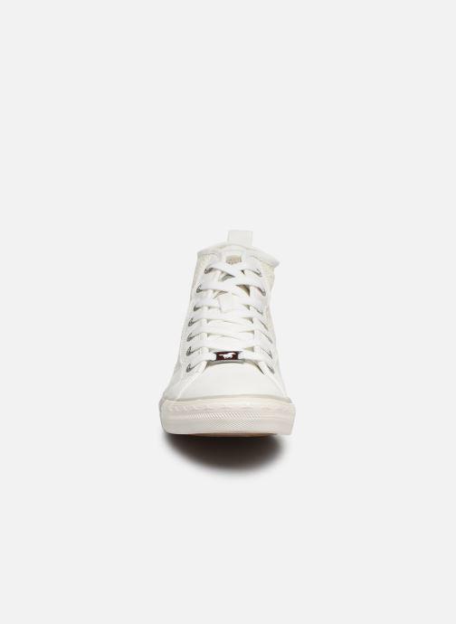 Baskets Mustang shoes Nola 1146507 Blanc vue portées chaussures