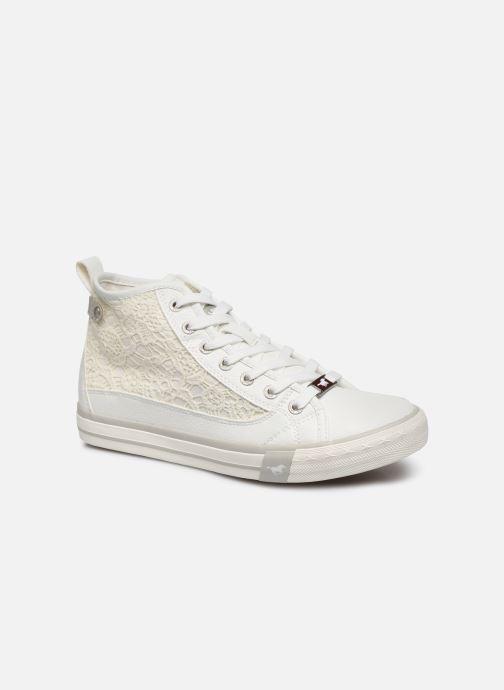 Baskets Mustang shoes Nola 1146507 Blanc vue détail/paire
