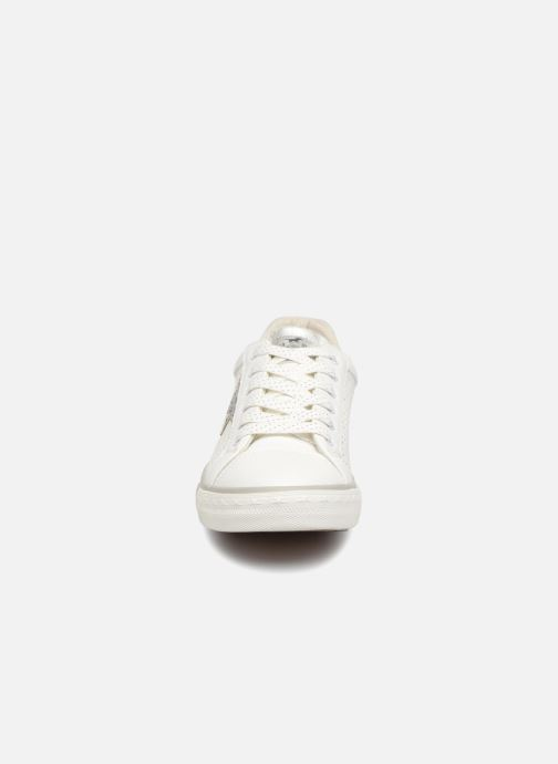 Baskets Mustang shoes Baroni Blanc vue portées chaussures