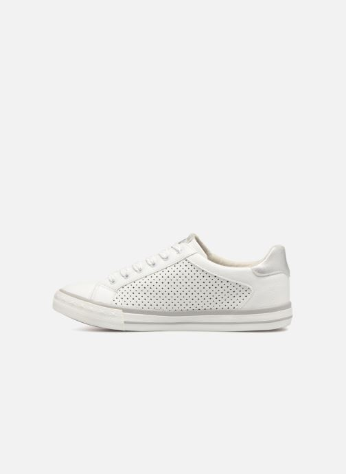 Baskets Mustang shoes Baroni Blanc vue face