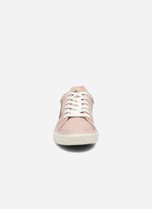 Baskets Mustang shoes Baroni Rose vue portées chaussures