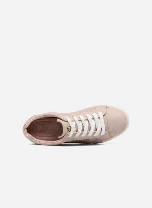Baskets Mustang shoes Baroni Rose vue gauche