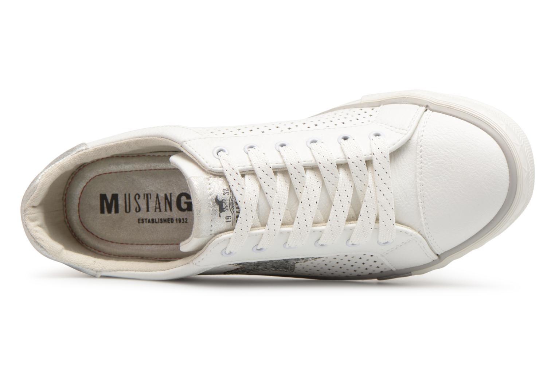 Baskets Mustang shoes Baroni Blanc vue gauche