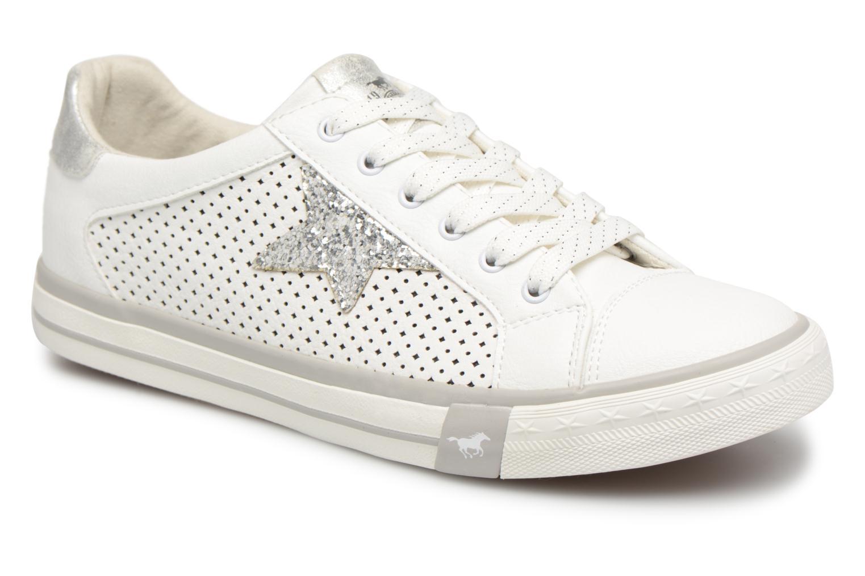 Baskets Mustang shoes Baroni Blanc vue détail/paire