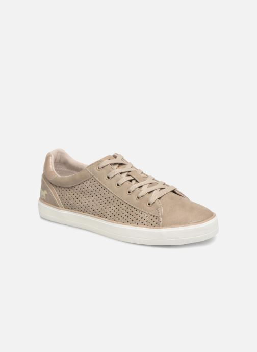 Baskets Mustang shoes Argia Beige vue détail/paire