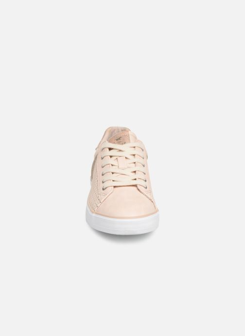 Baskets Mustang shoes Argia Beige vue portées chaussures