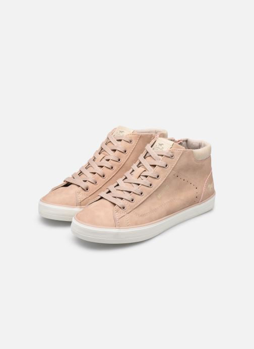 Trainers Mustang shoes Arkhas Pink view from underneath / model view
