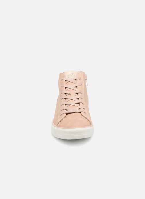 Sneaker Mustang shoes Arkhas rosa schuhe getragen