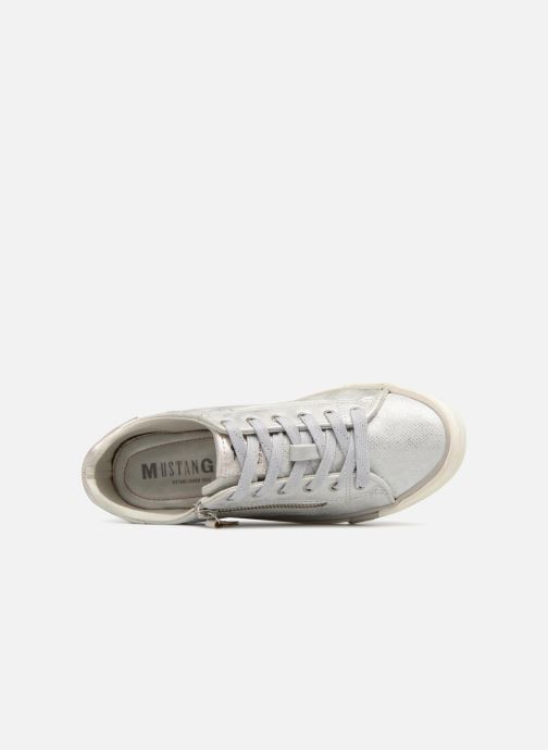 Sneaker Mustang shoes Nalimo silber ansicht von links
