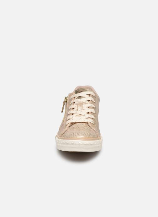 Baskets Mustang shoes Nalimo Or et bronze vue portées chaussures