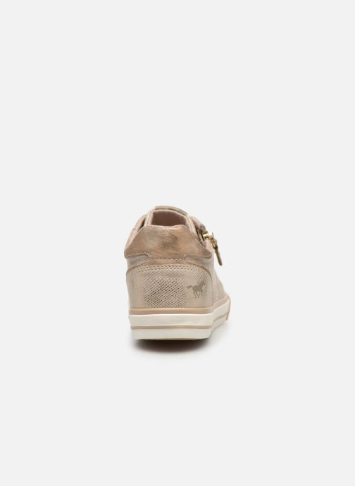 Baskets Mustang shoes Nalimo Or et bronze vue droite