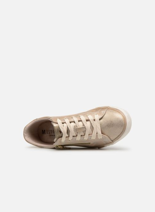 Baskets Mustang shoes Nalimo Or et bronze vue gauche