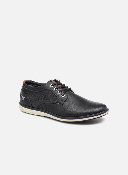 Chaussures à lacets Mustang shoes Pasou Bleu vue détail/paire
