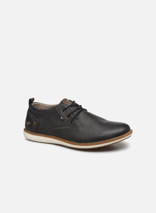 Lace-up shoes Mustang shoes Pasou Grey detailed view/ Pair view