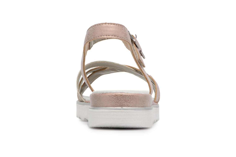 Sandales et nu-pieds Remonte Sophia D1151 Beige vue droite