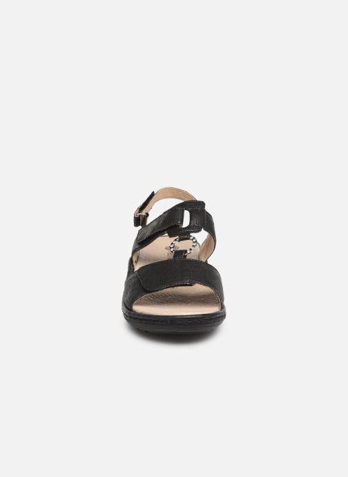 Sandales et nu-pieds Remonte Maci Noir vue portées chaussures