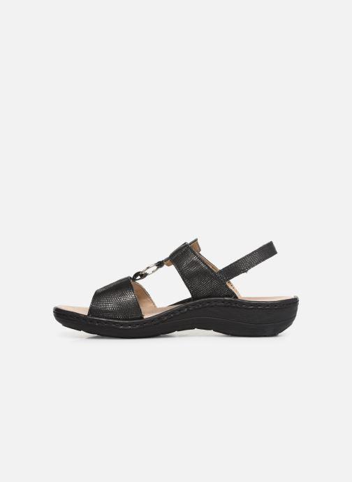 Sandales et nu-pieds Remonte Maci Noir vue face