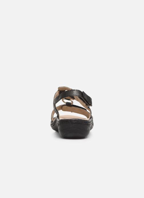 Sandales et nu-pieds Remonte Maci Noir vue droite