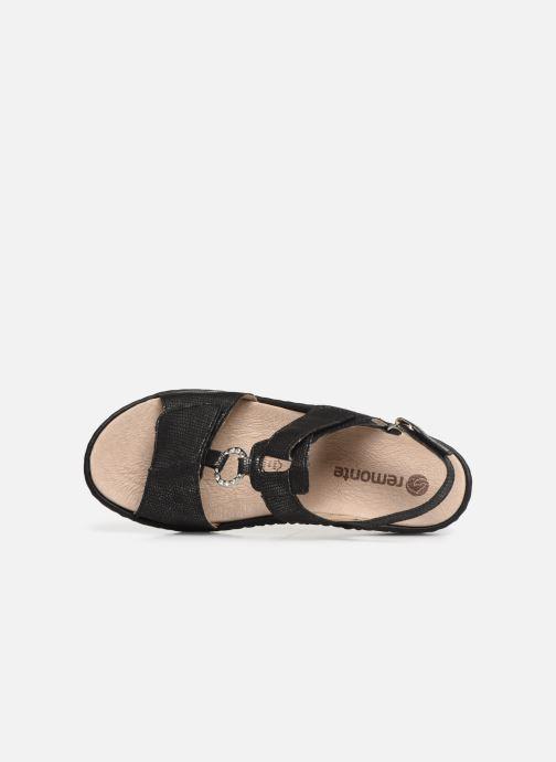 Sandales et nu-pieds Remonte Maci Noir vue gauche