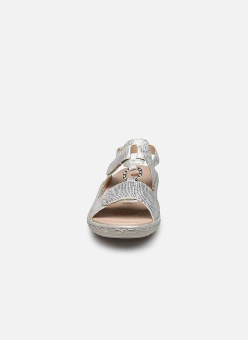 Sandales et nu-pieds Remonte Maci Argent vue portées chaussures