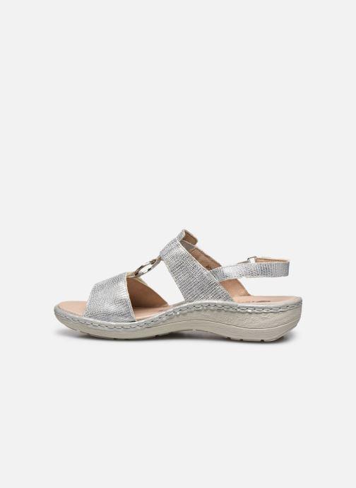 Sandales et nu-pieds Remonte Maci Argent vue face