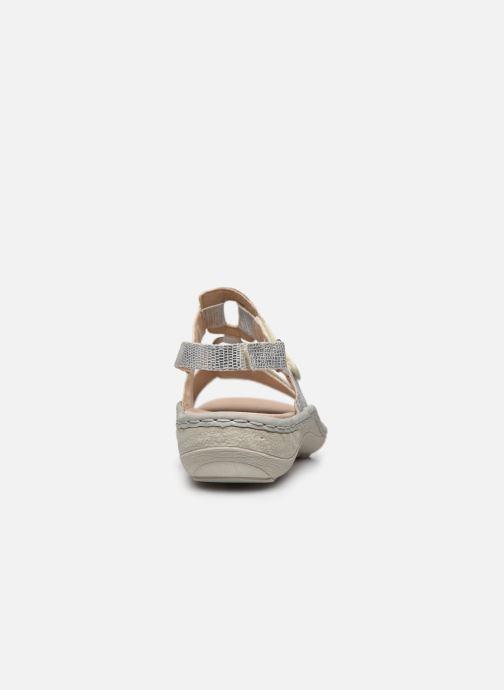 Sandales et nu-pieds Remonte Maci Argent vue droite