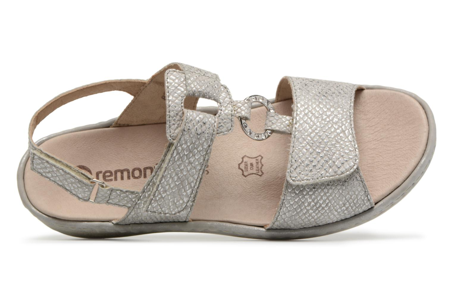 Sandals Remonte Maci D7648 Grey view from the left