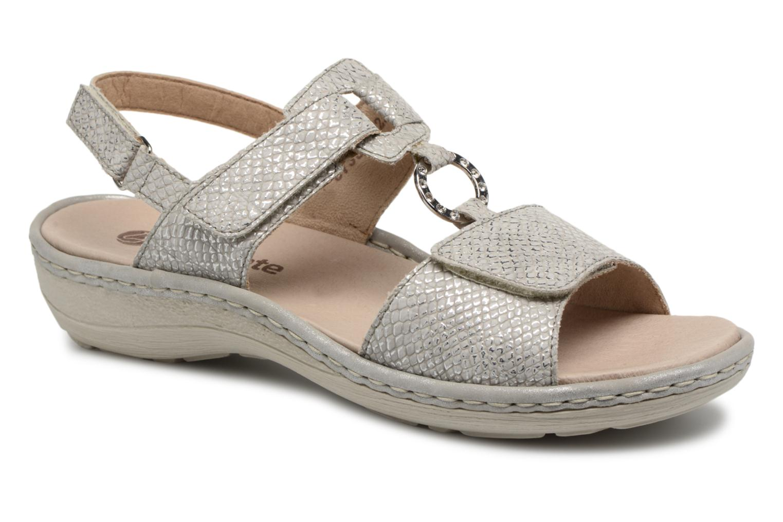 Sandals Remonte Maci D7648 Grey detailed view/ Pair view