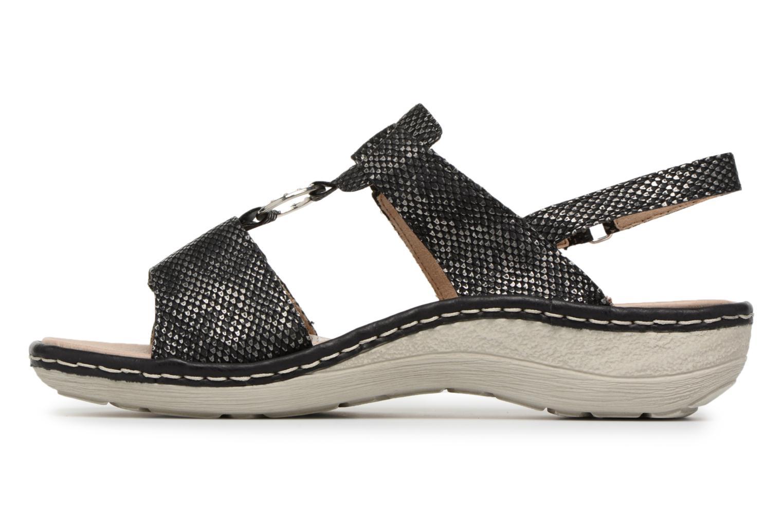Sandals Remonte Maci D7648 Black front view