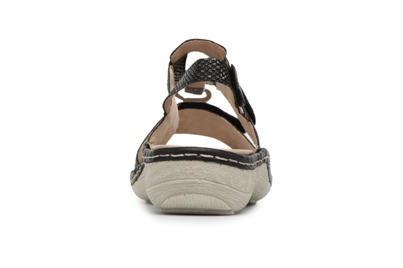 Sandals Remonte Maci D7648 Black view from the right