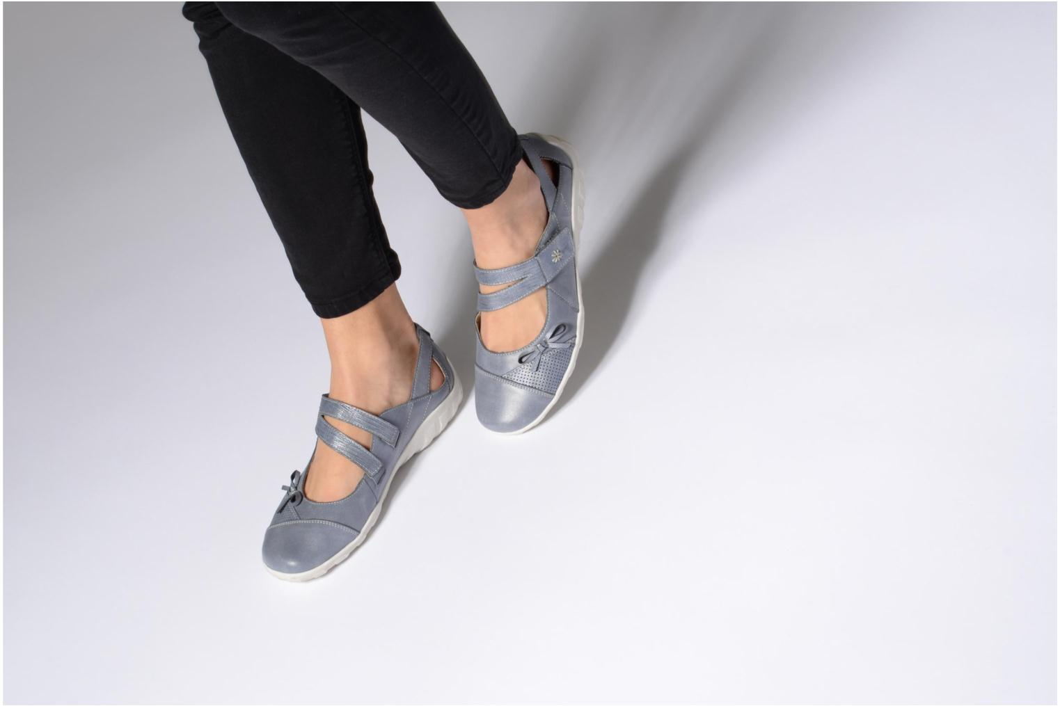 Ballet pumps Remonte Rae R3428 Blue view from underneath / model view