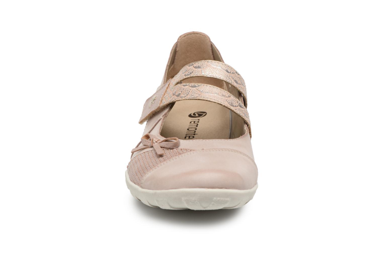 Ballerines Remonte Rae R3428 Beige vue portées chaussures