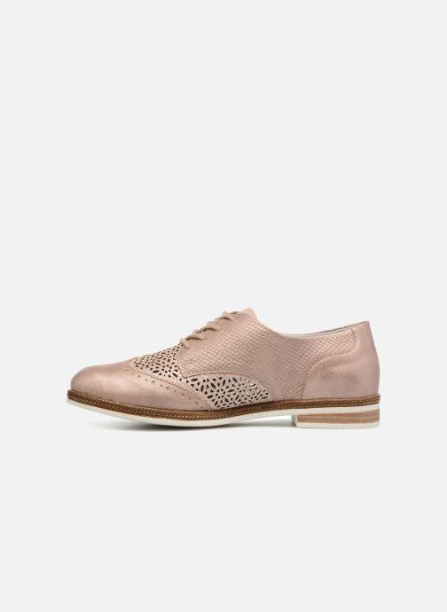 Zapatos con cordones Remonte Isa D2601 Beige vista de frente