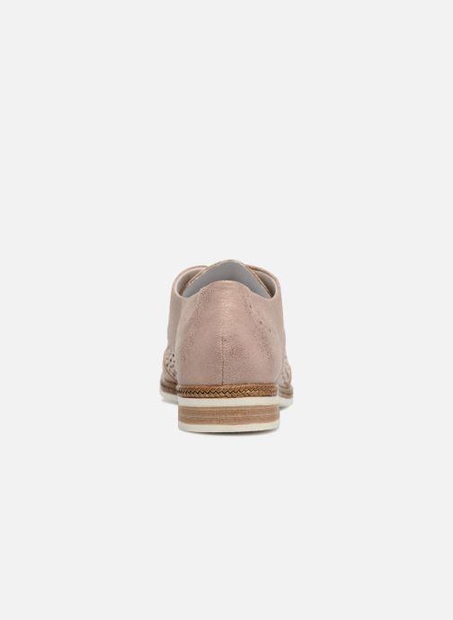 Zapatos con cordones Remonte Isa D2601 Beige vista lateral derecha