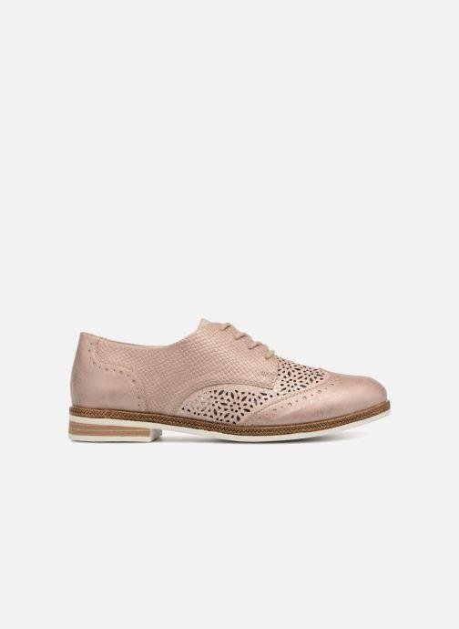 Zapatos con cordones Remonte Isa D2601 Beige vistra trasera