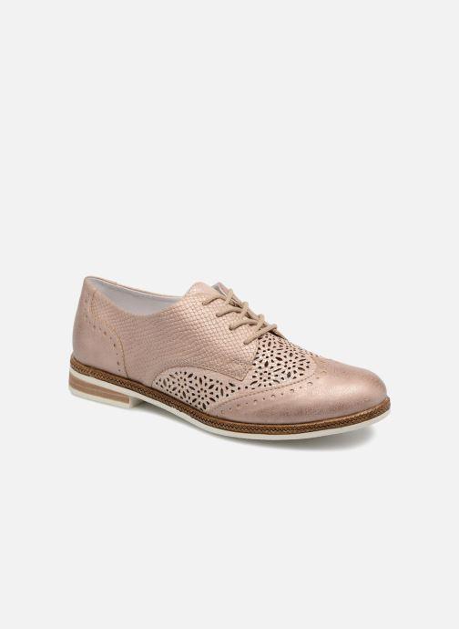 Zapatos con cordones Remonte Isa D2601 Beige vista de detalle / par